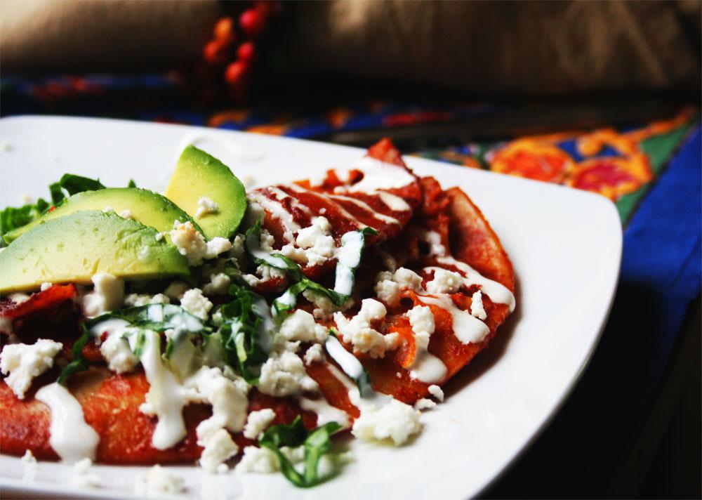 Enchiladas de Papa